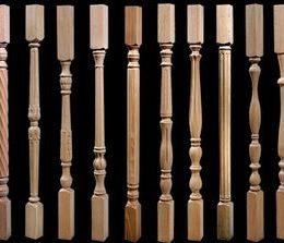 Изготовление и монтаж балясин из дерева