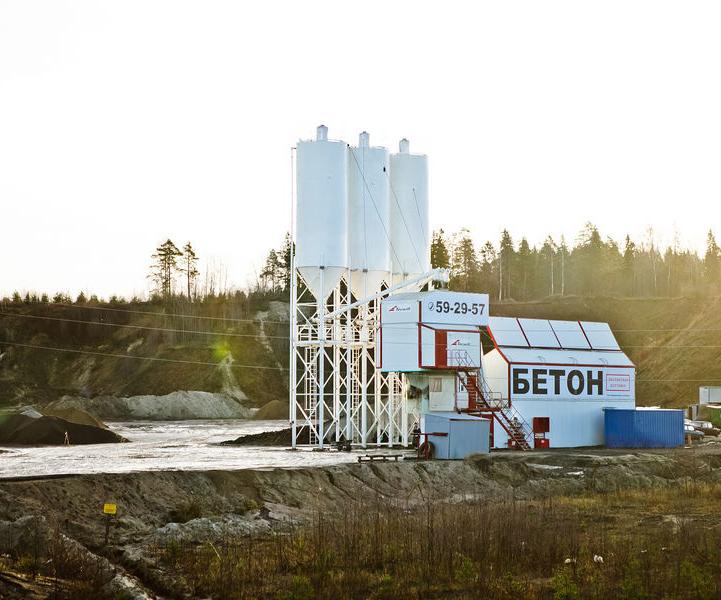 Как выглядит завод по производству бетона.