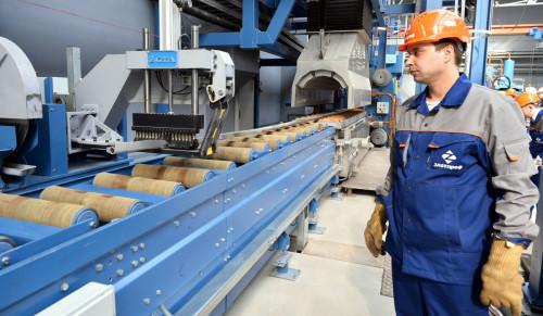 Оборудование для выпрессовки на производстве алюминиевого профиля.