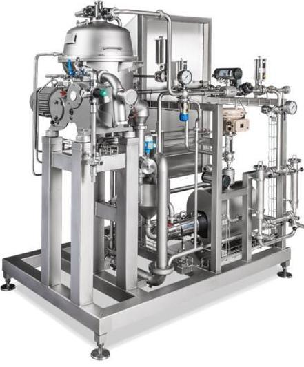Один из видов аппаратов для мини-производства йогуртов на заводе.