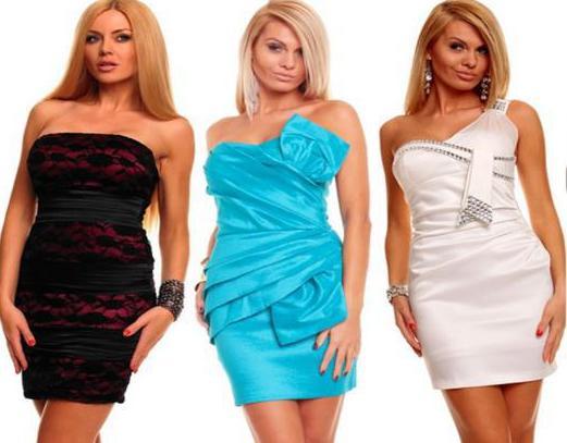 Несколько примеров товаров интернет-магазина женской одежды.