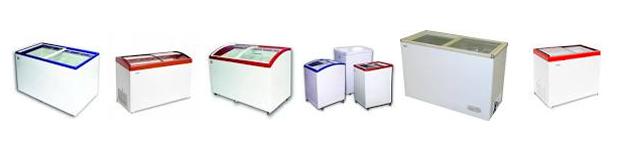 Несколько вариантов холодильного оборудования.