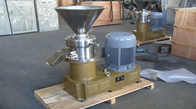 Внешний вид машины для изготовления арахисовой пасты для бизнеса.