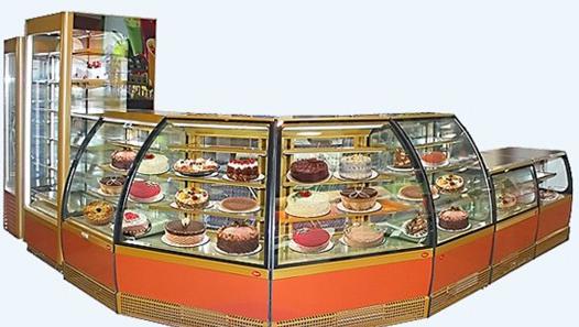 Магазинное оборудование для десеров.