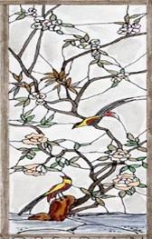 Рисунок на витражном стекле.