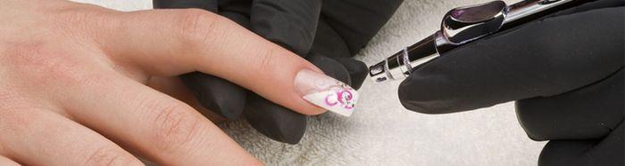 как делать аэрографию на ногтях
