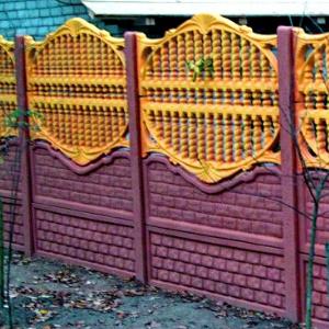 Забор из цемента