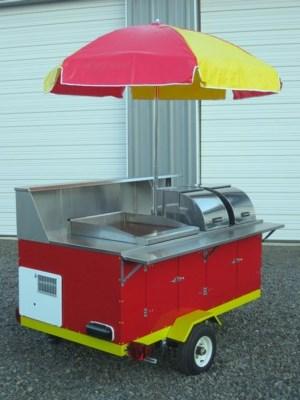Палатка для хот-догов предназначена исключительно для уличной торговли