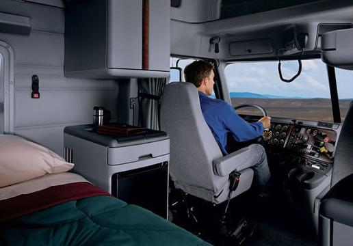 Как выглядит изнутри кабина грузовика для дальних перевозок.