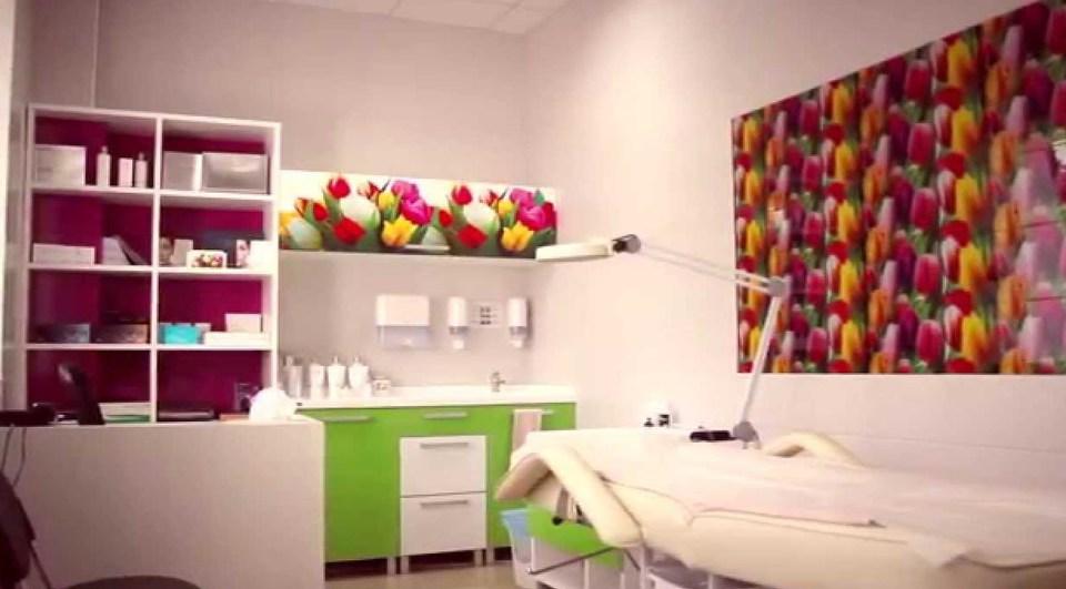 Дизайн косметологического кабинета в весеннем стиле.