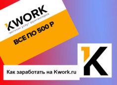 Как быстро заработать на Kwork.ru, полезная информация.
