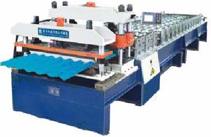 Станок высокой технологичности для производства металлочерепицы.