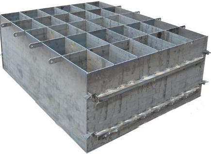 Внешний вид формы, которую можно использовать для производства пеноблоков.