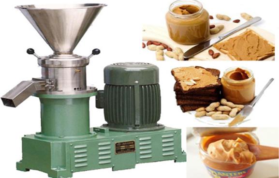 Оборудование для перемолки арахиса с целью получения арахисовой пасты.