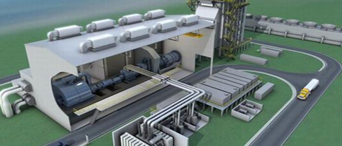 Территория и необходимое оборудование для переработки мусора на заводе.