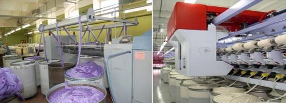 Внешний вид оборудования необходимого для изготовления пряжи.
