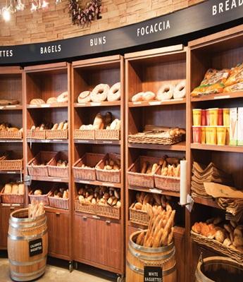 Витрина для продажи хлебо-булочных изделий.