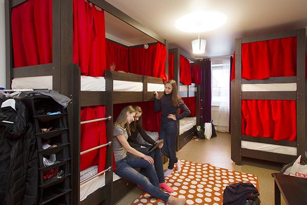 Примерный перечень элементов мебели для хостела типового плана.
