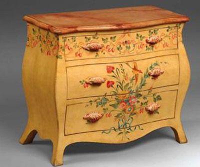 роспись мебели и предметов интерьера акриловыми красками