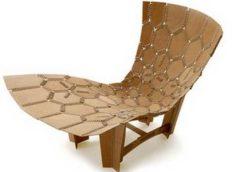 фанерная мебель с веревочными креплениями
