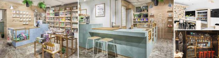 интерьер магазина здорового питания