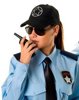 женщина охранник