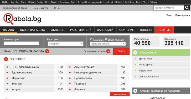 поиск работы в Болгарии