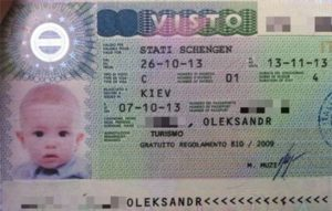 детская виза в Германию