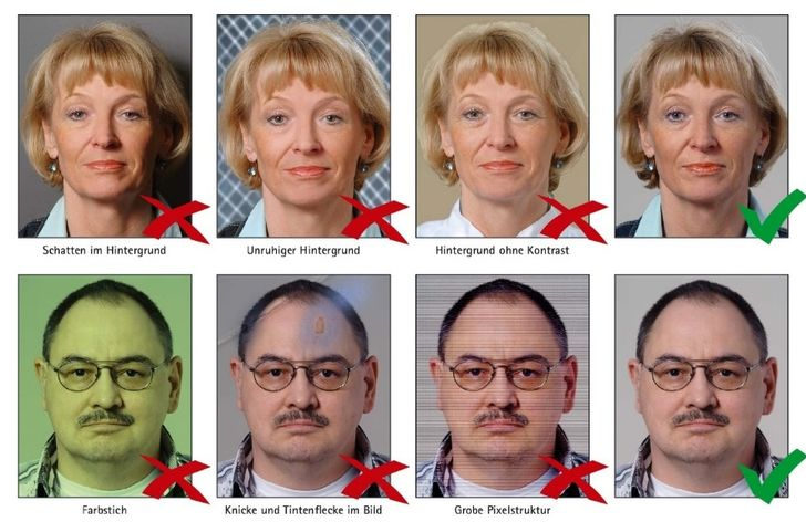 примеры фото на визу в США