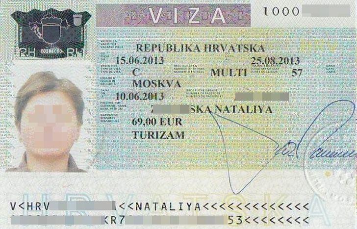 шенгенская виза в Хорватию